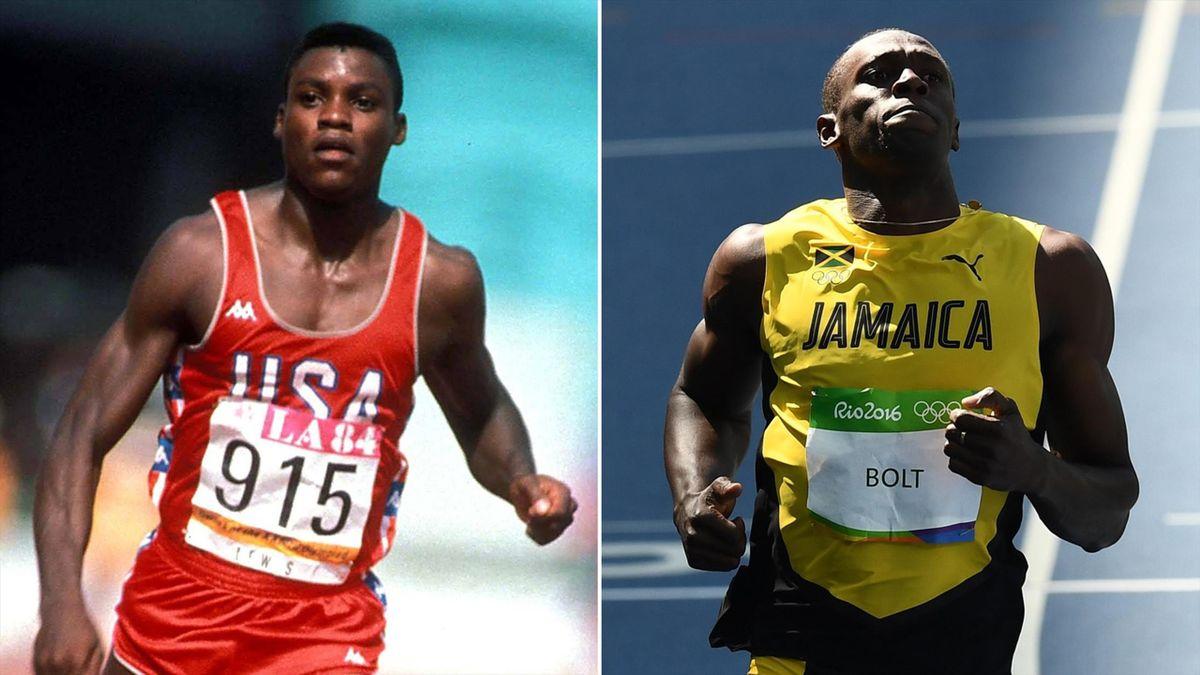 Carl Lewis (1984) - Usain Bolt (2016)