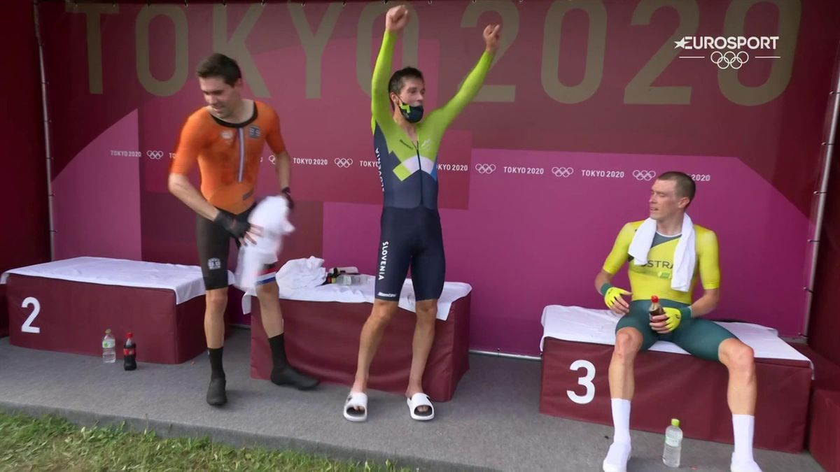 'What a day!' - Roglic celebrates gold glory in time trial