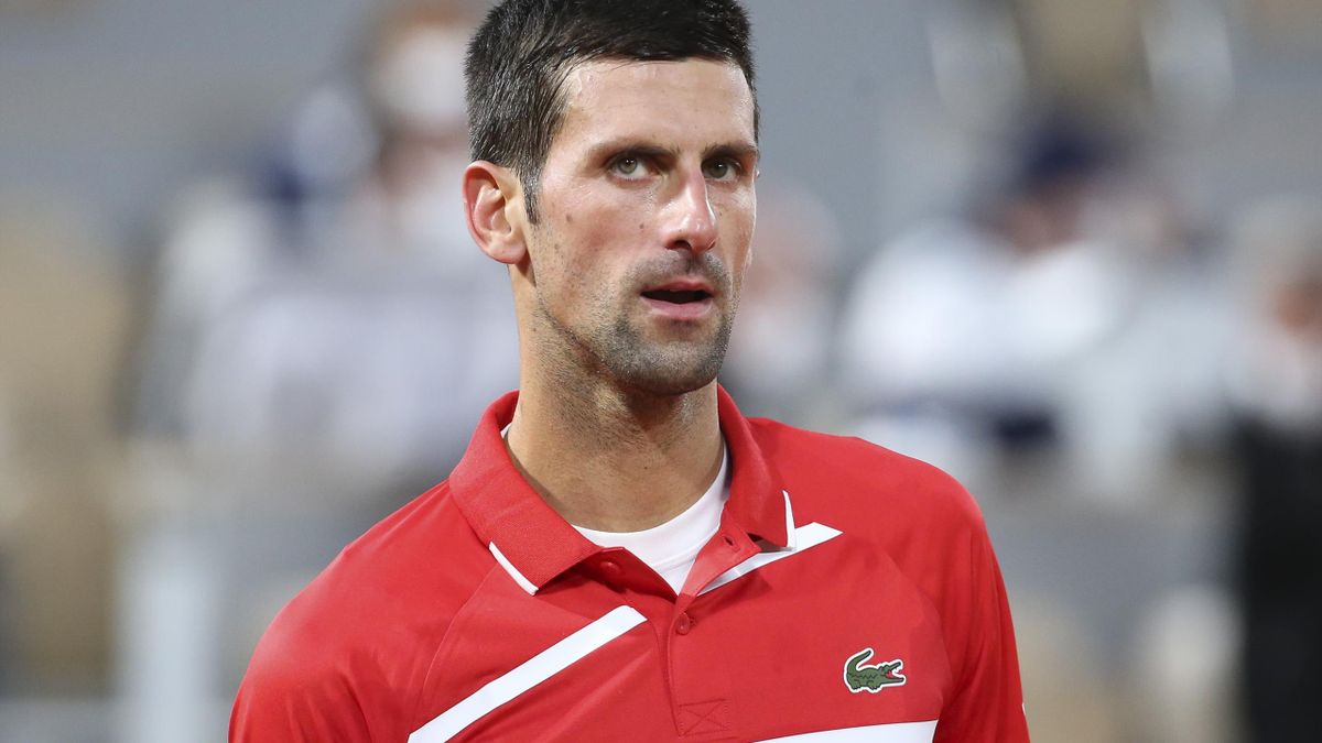 Novak Djokovic of Serbia during the 2020 French Open