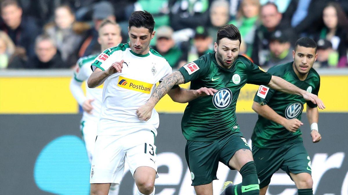 Lars Stindl vs. Renato Steffen (Borussia Mönchengladbach vs. VfL Wolfsburg)