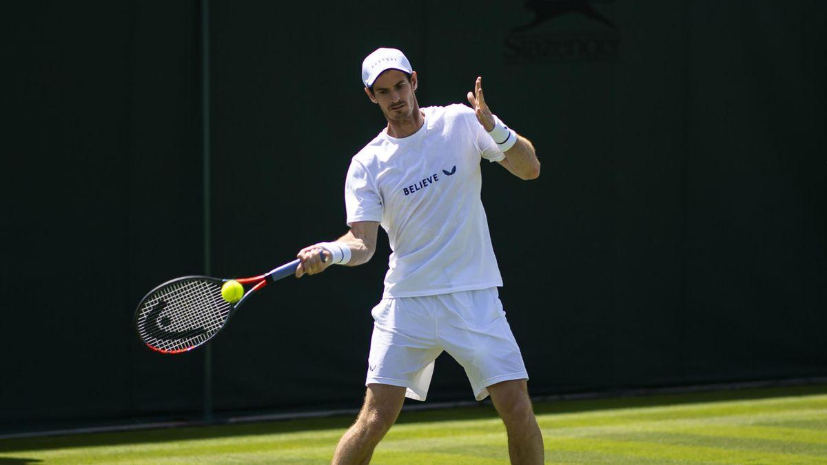 Andy Murray a 2019-es wimbledoni tornán.