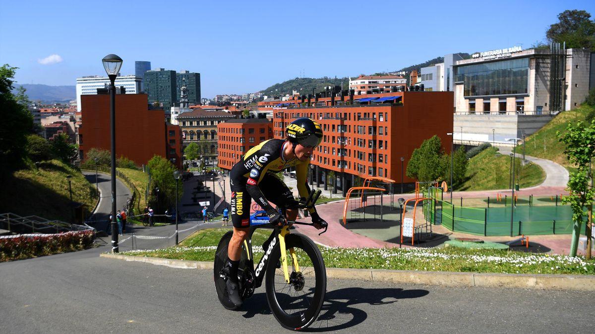 Primoz Roglic in Bilbao 2021