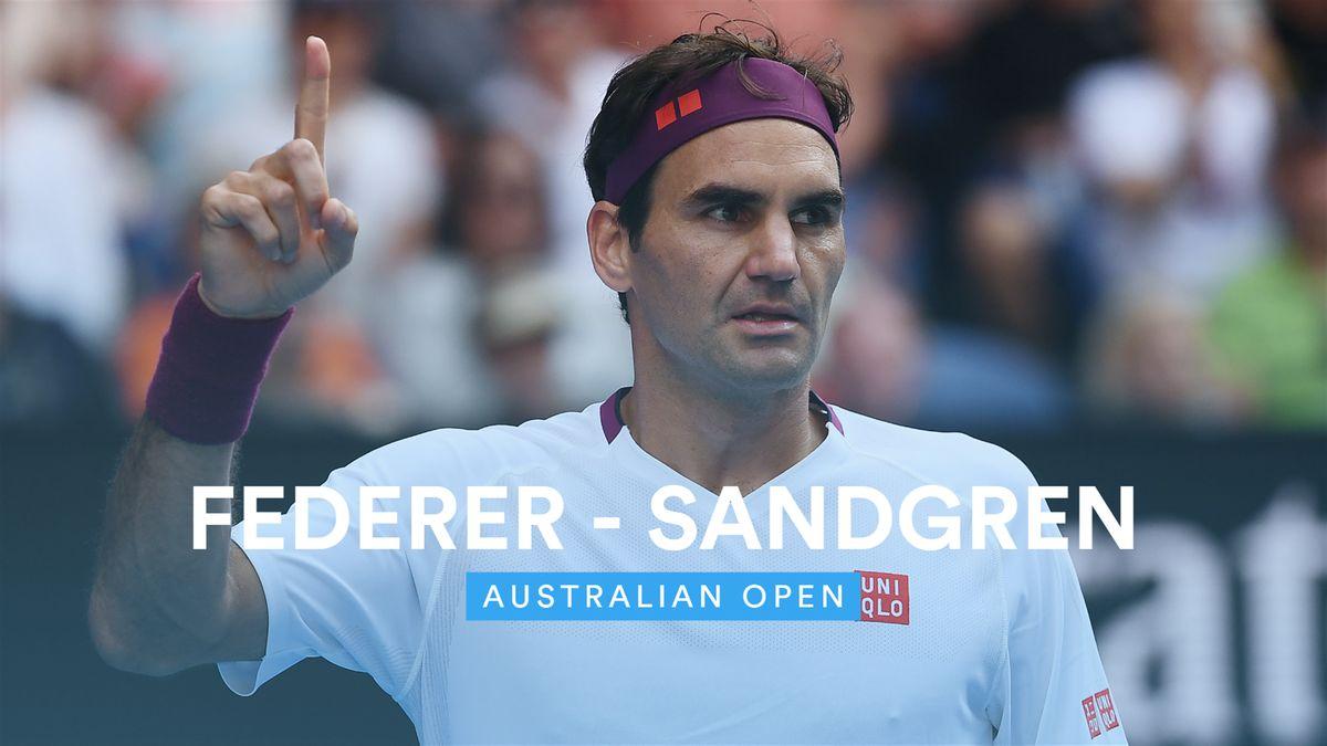 Australian Open - Highlights Sandgren vs Federer (FR)