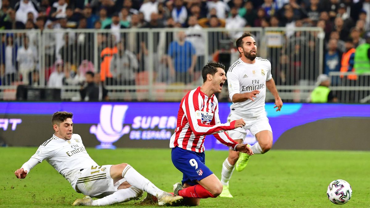 Le tacle de Valverde sur Morata