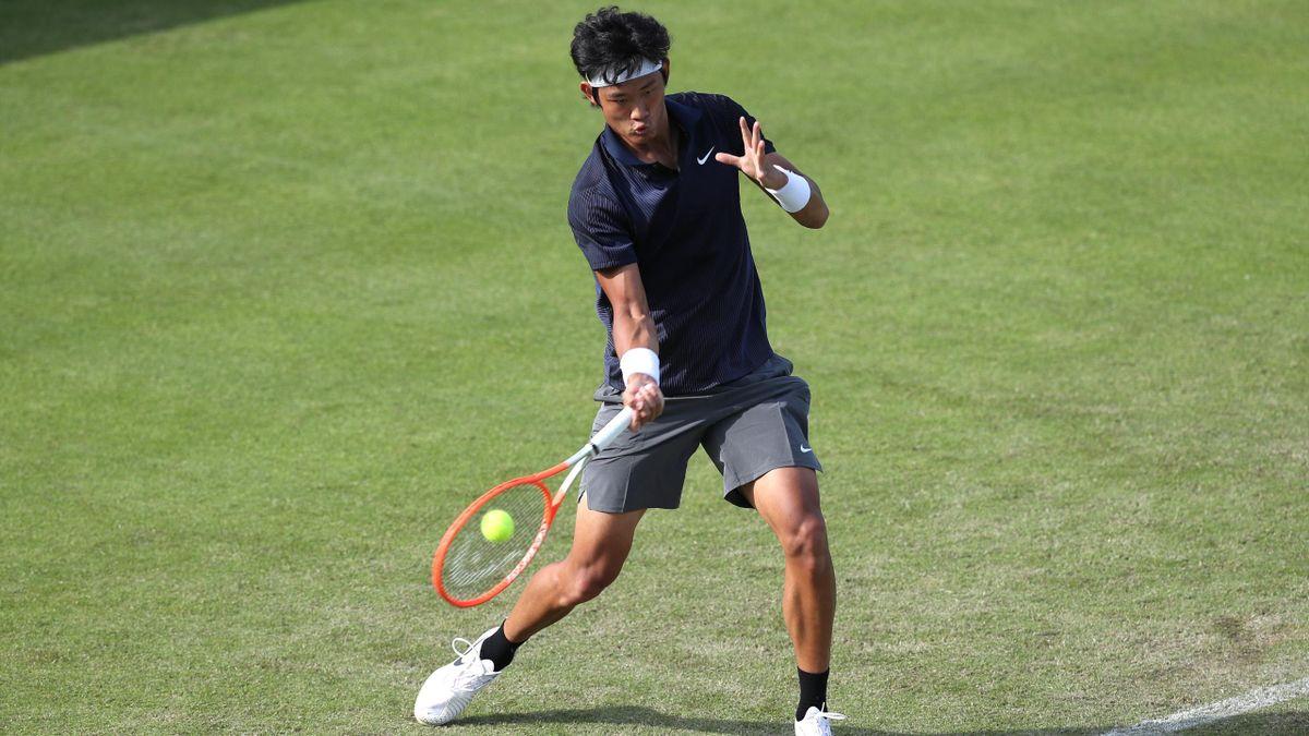 Zhang Zhizhen beim Turnier in Nottingham