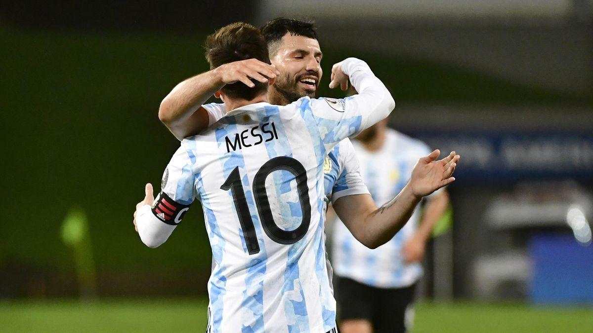 Лионель Месси и Серхио Агуэро, сборная Аргентины