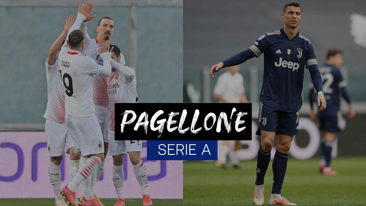 L'esultanza di Ibrahimovic a Firenze, la delusione di Ronaldo per il ko col Benevento, Getty Images