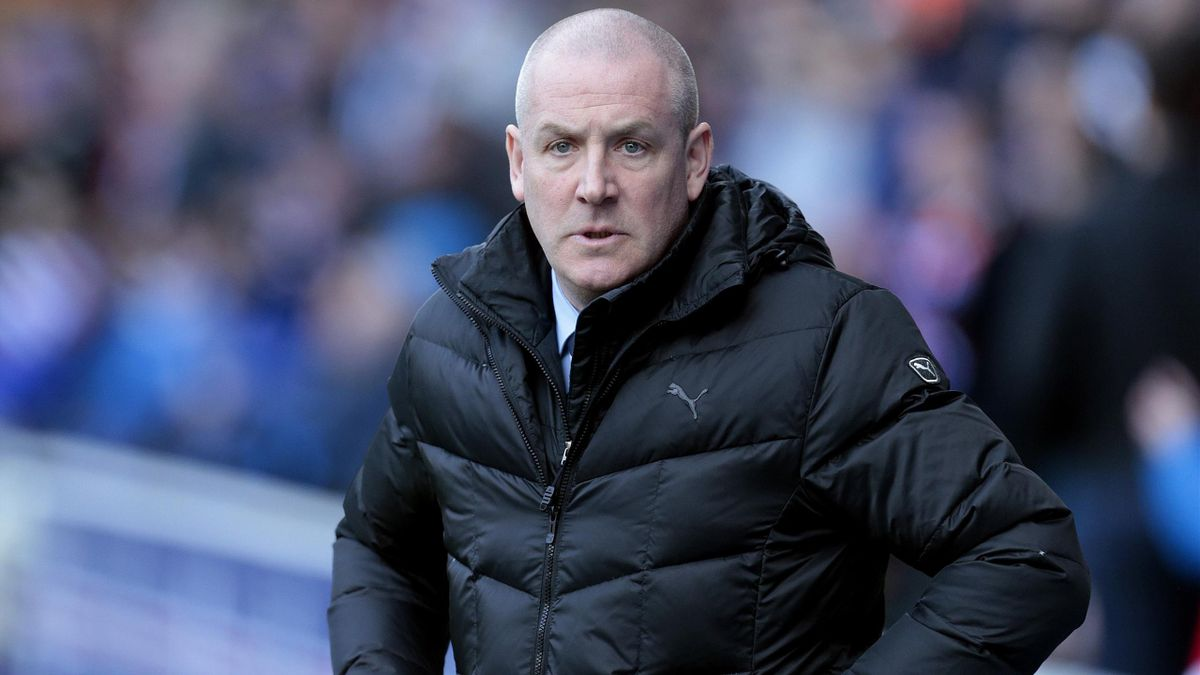 Mark Warburton watched Rangers complete a thumping 4-0 win over Dundee.