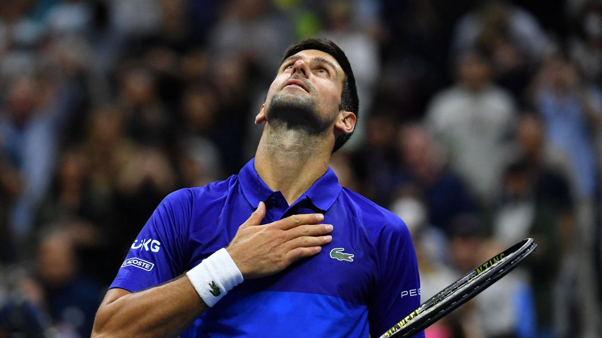 Novak Djokovic, qualifié pour le 3e tour de l'US Open 2021 - 02/09/2021, à Flushing Meadows