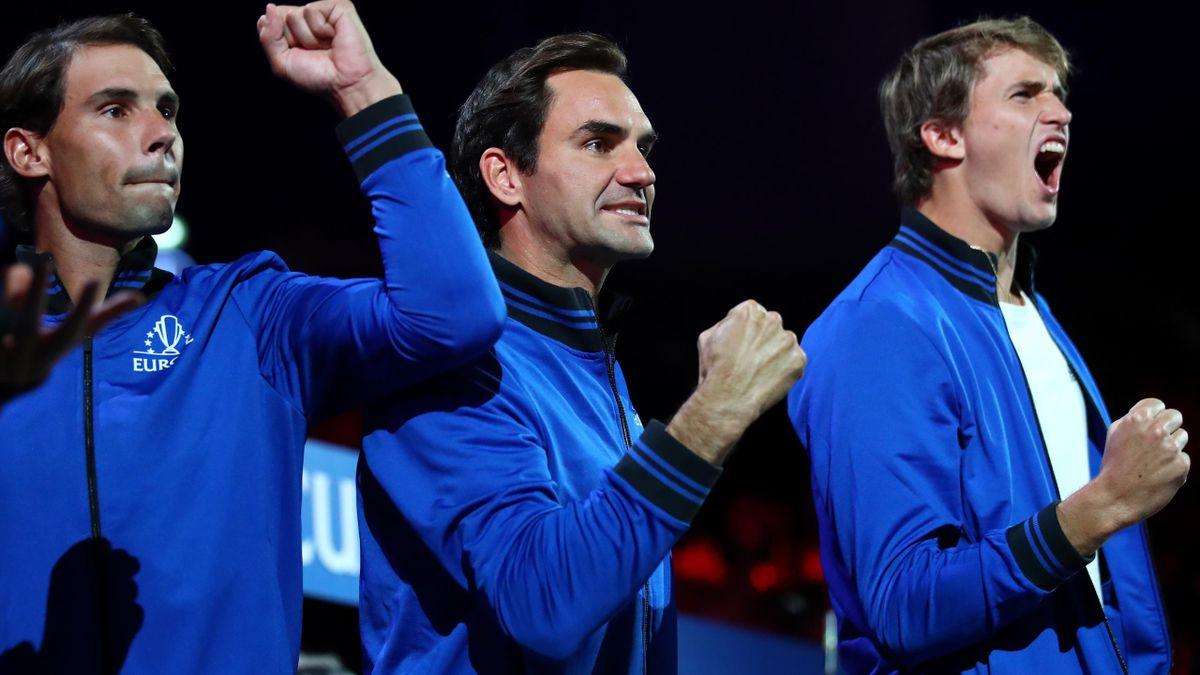 Tennis News Roger Federer Pays Tribute To Rafael Nadal At Laver Cup Despite Injury Eurosport