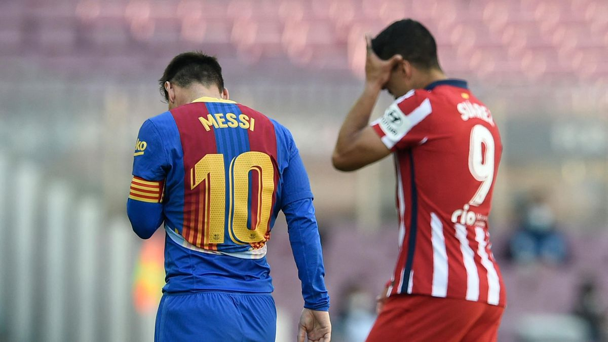 Lionel Messi avec Luis Suarez, 2021