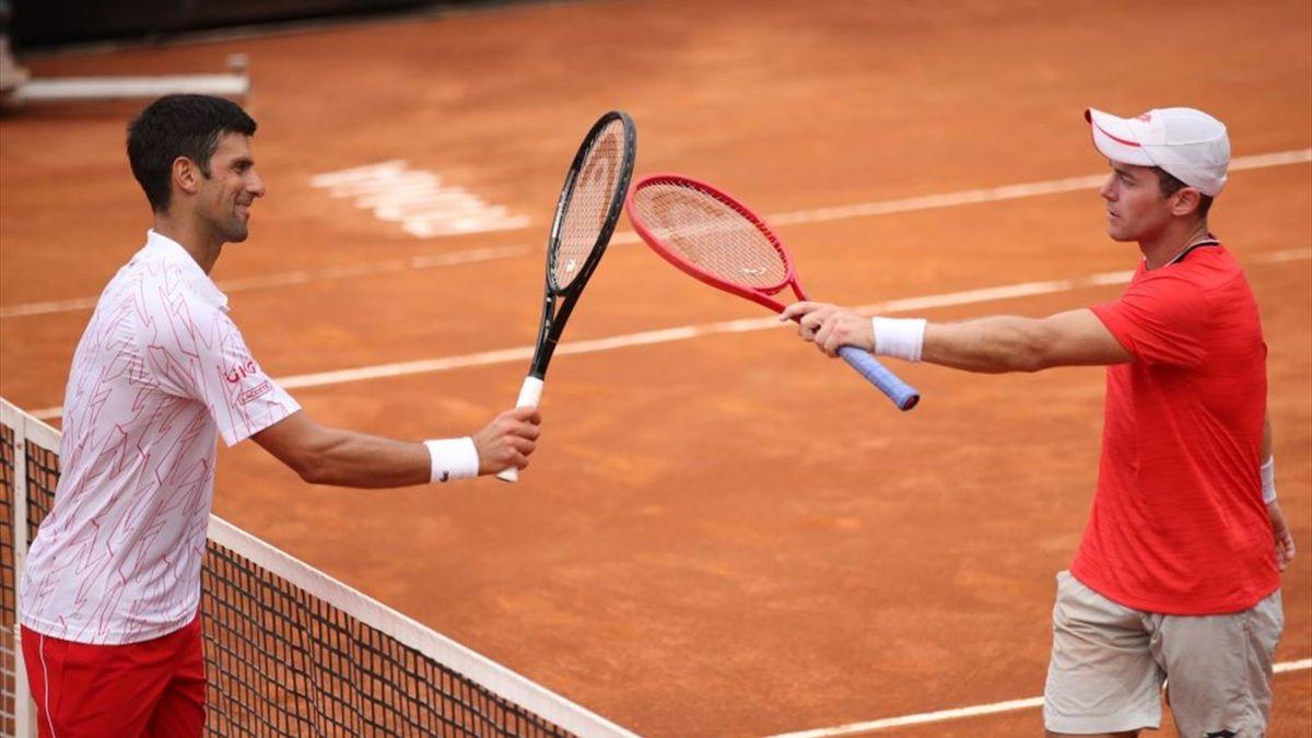 Novak Djokovic Battles Past Dominik Koepfer To Reach 11th Rome Masters Semi Final Eurosport