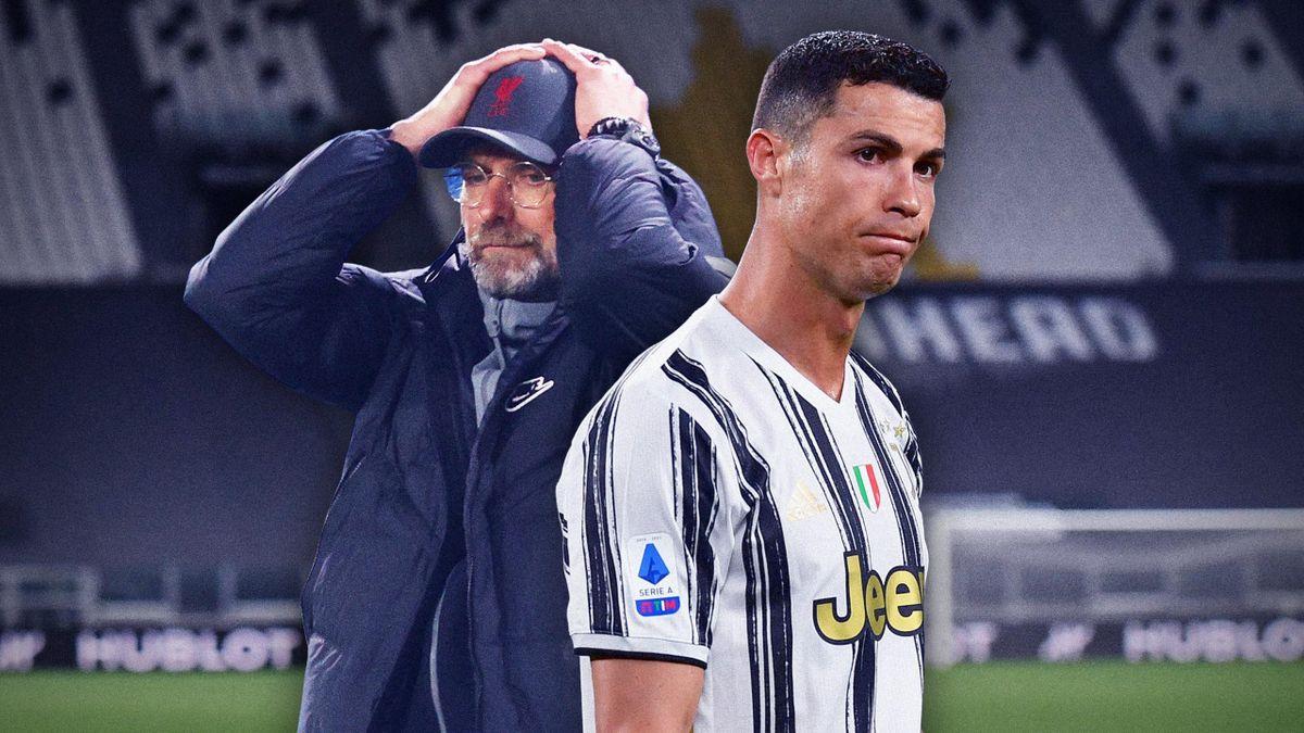 Jurgen Klopp (Liverpool) et Cristiano Ronaldo (Juventus)