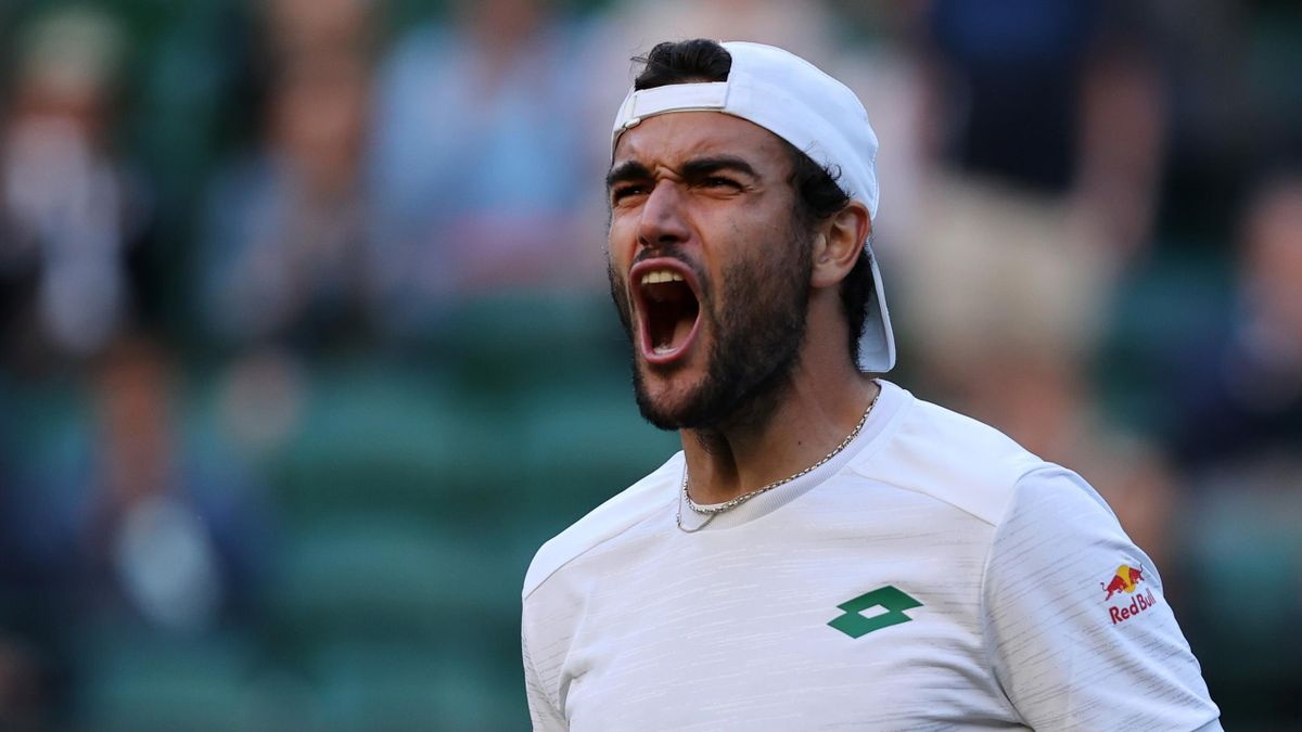 Matteo Berrettini savoure sa victoire en quart de finale de Wimbledon 2021