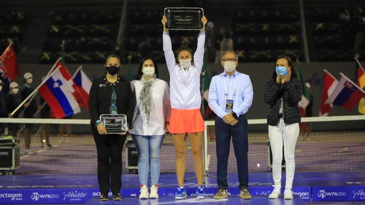 Sara Sorribes (WTA 250 Guadalajara 2021). Fotografía: Abierto Zapopan de Tennis 2021