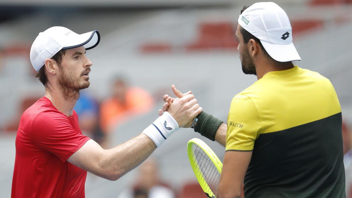 Andy Murray beat Matteo Berrettini in China