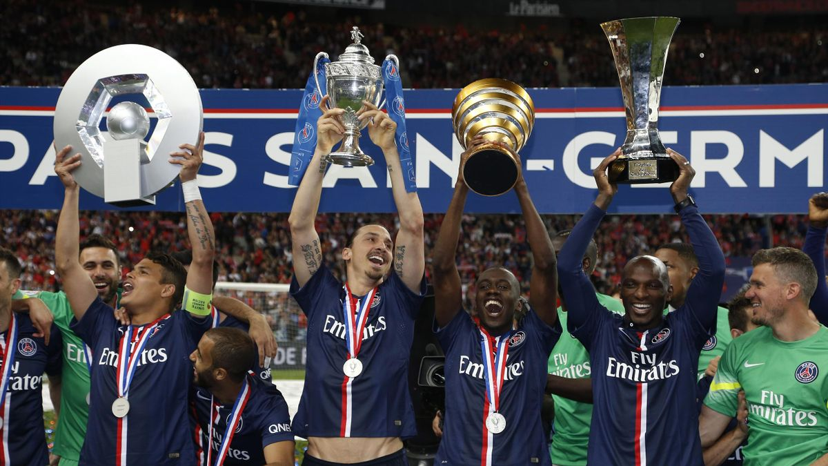 Les 4 trophées du PSG en 2015