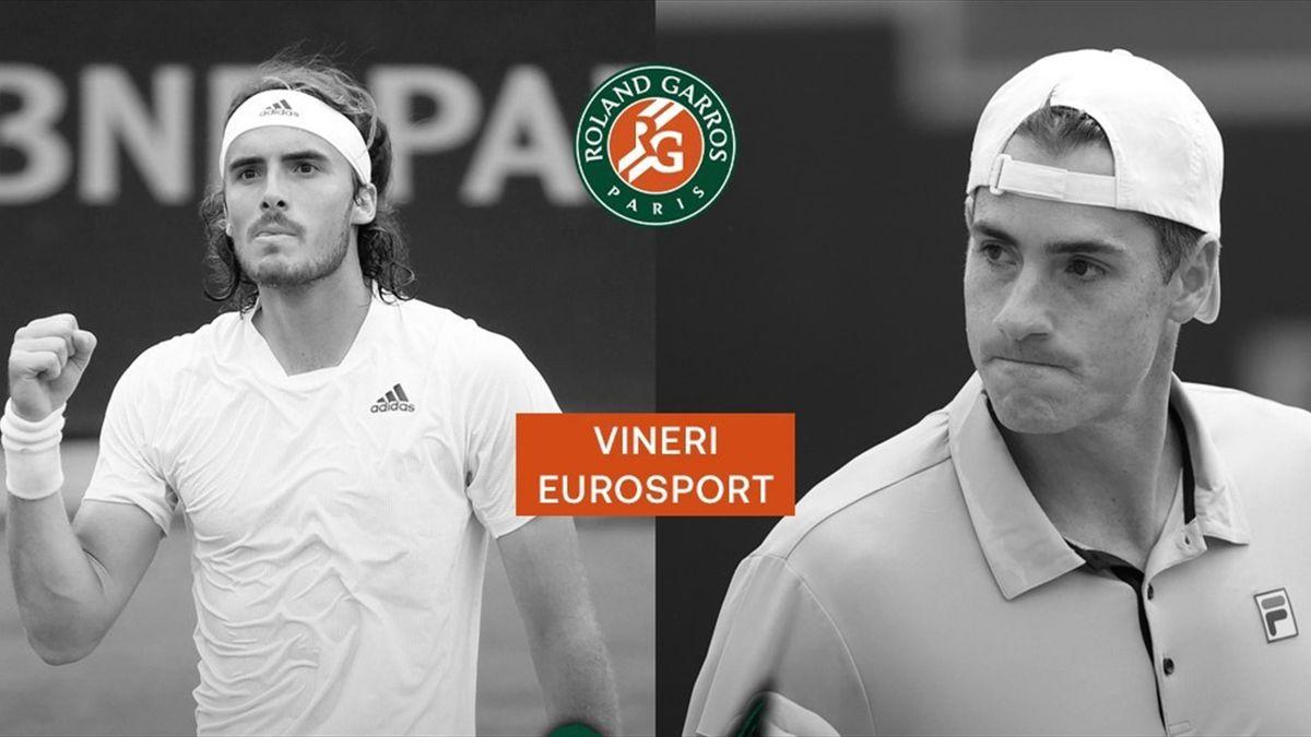Tsitsipas - Isner, meciul vedetă al zilei a 6-a de la Roland Garros 2021