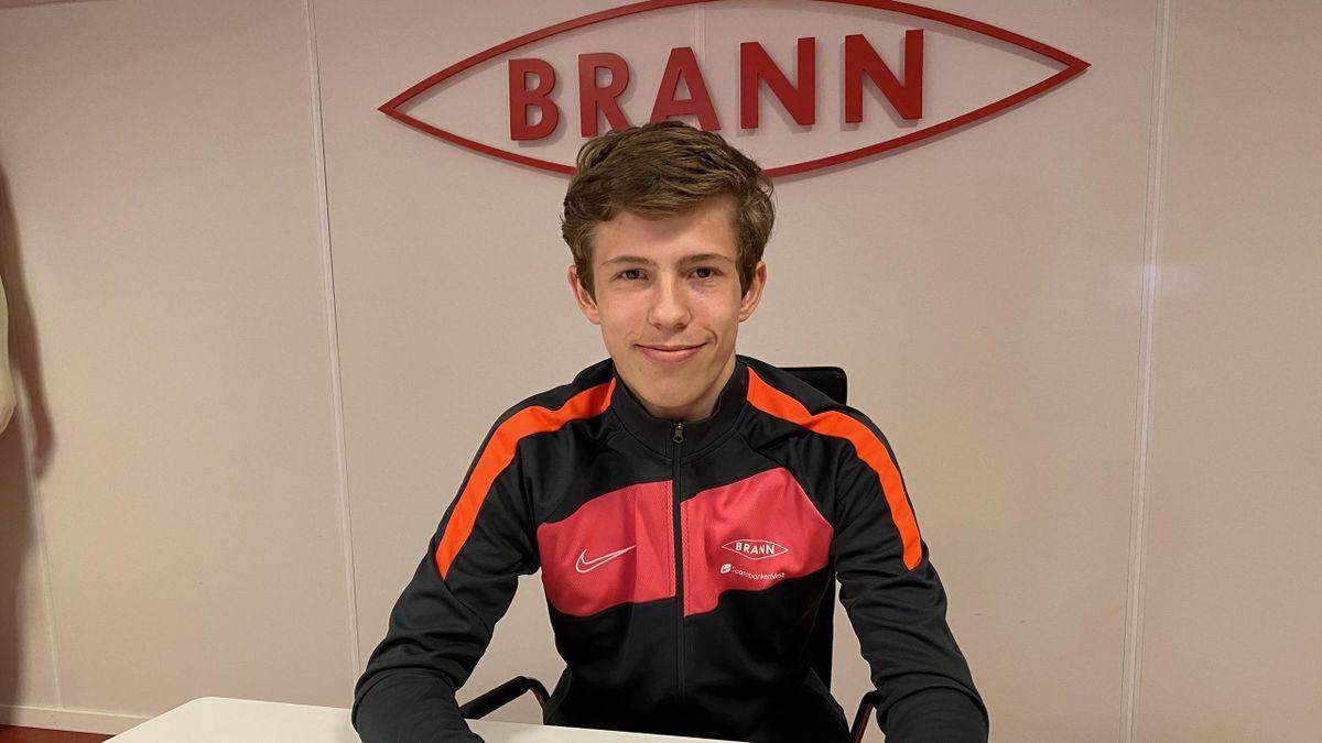 Niklas Jensen Wassberg har signert en kontrakt for Branns A-lag. Foto: Sportsklubben Brann