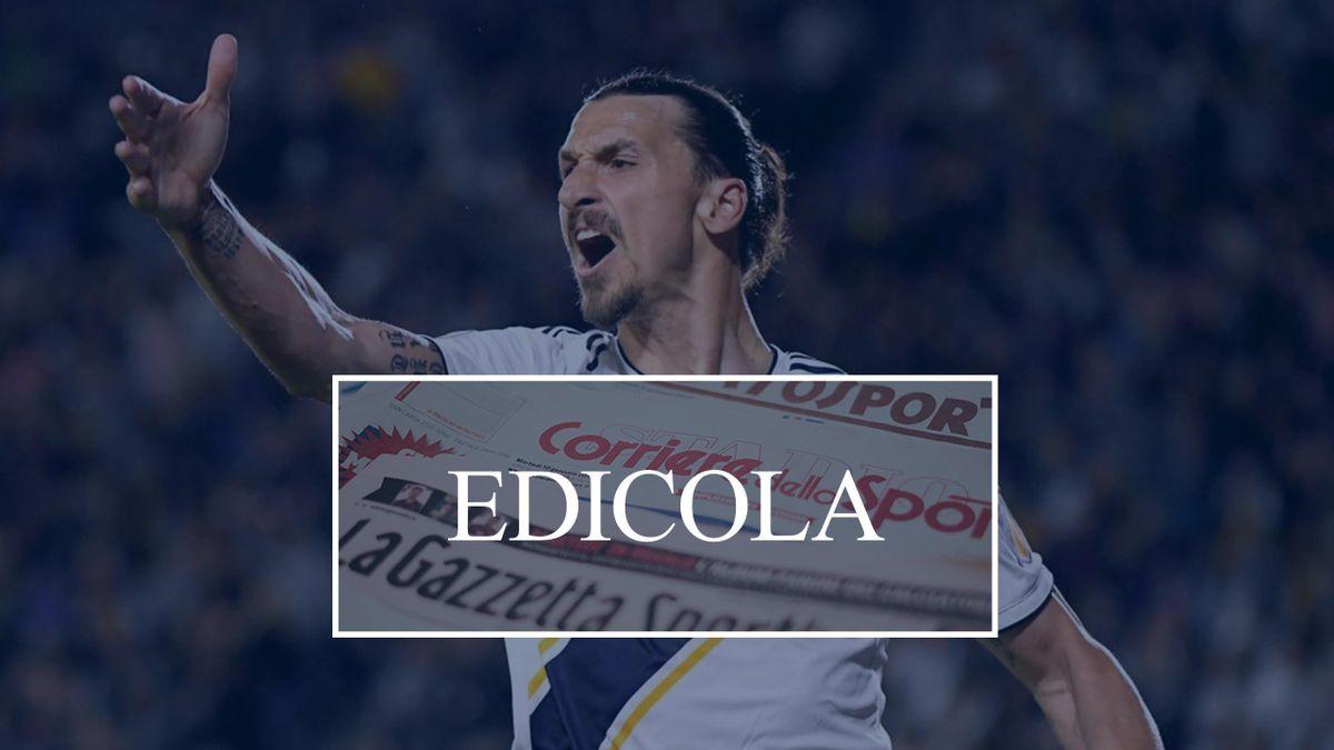 Zlatan Ibrahimovic edicola