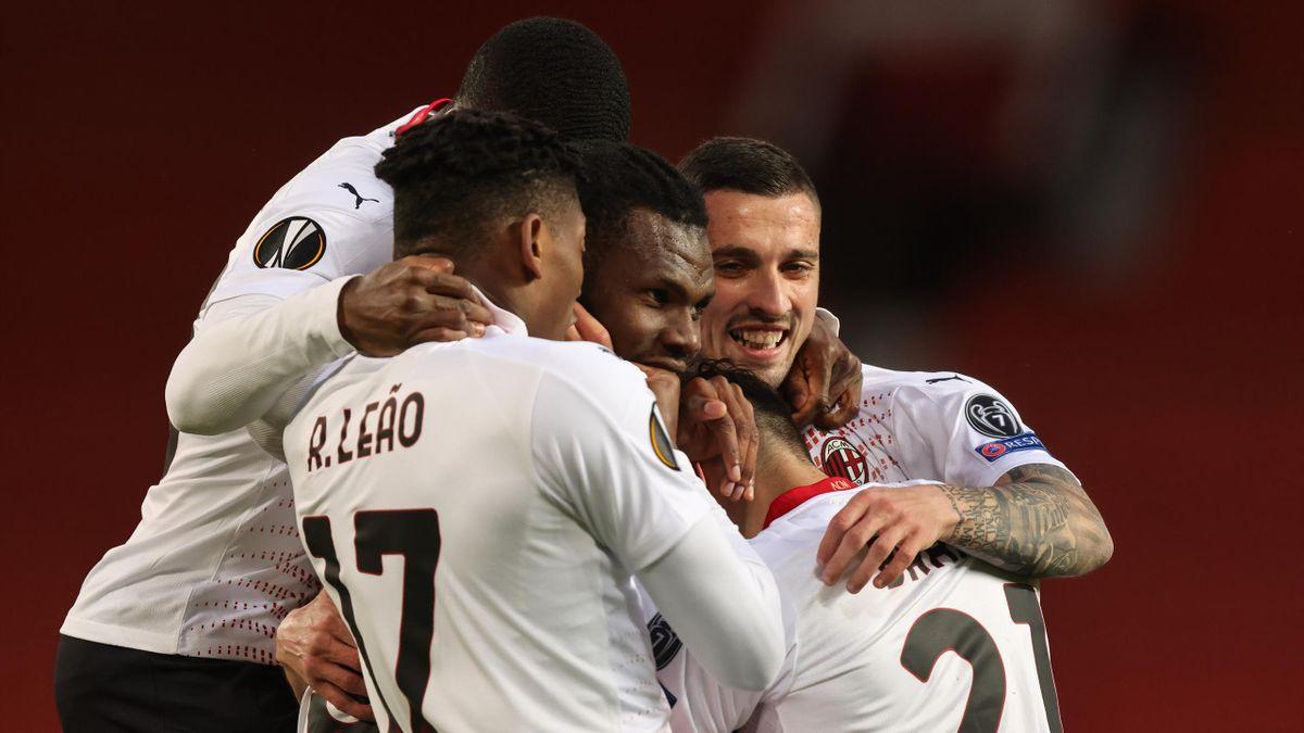 Franck Kessié simbolo del Milan uscito con un pari importante all'Old Trafford, Getty Images