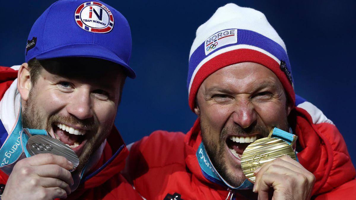 Aksel Lund Svindal en Kjetil Jansrud in PyeongChang