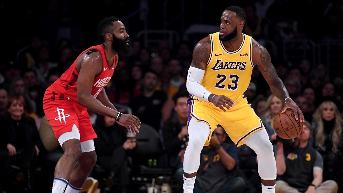 James Harden (Houston Rockets); LeBron James (Los Ángeles Lakers)