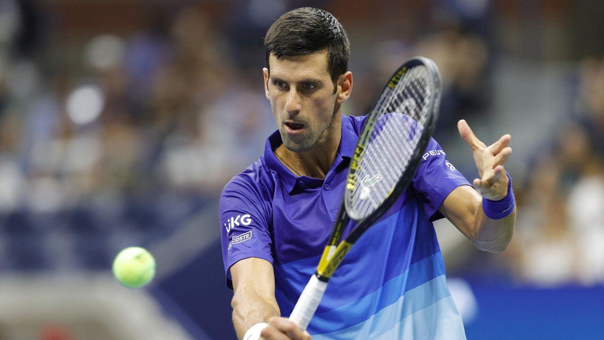 Novak Djokovic à l'US Open en 2021