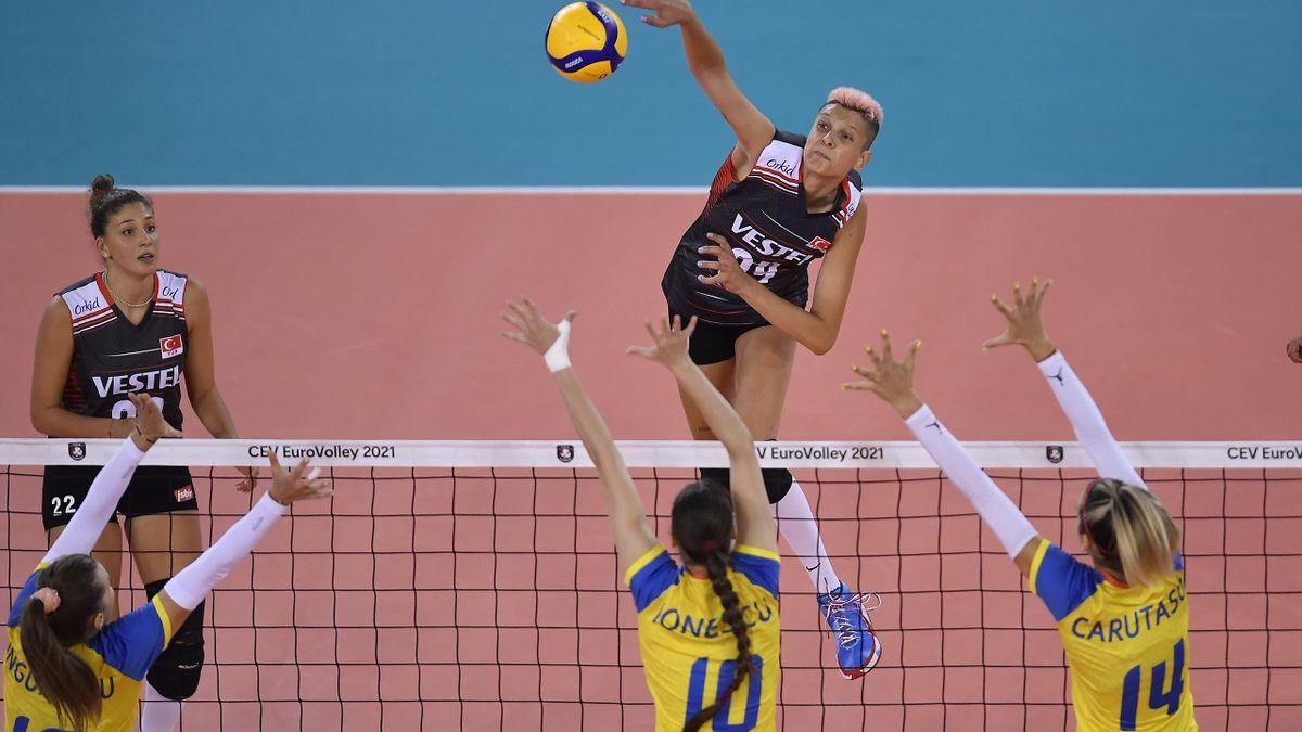 România - Turcia, Campionatul European de volei feminin