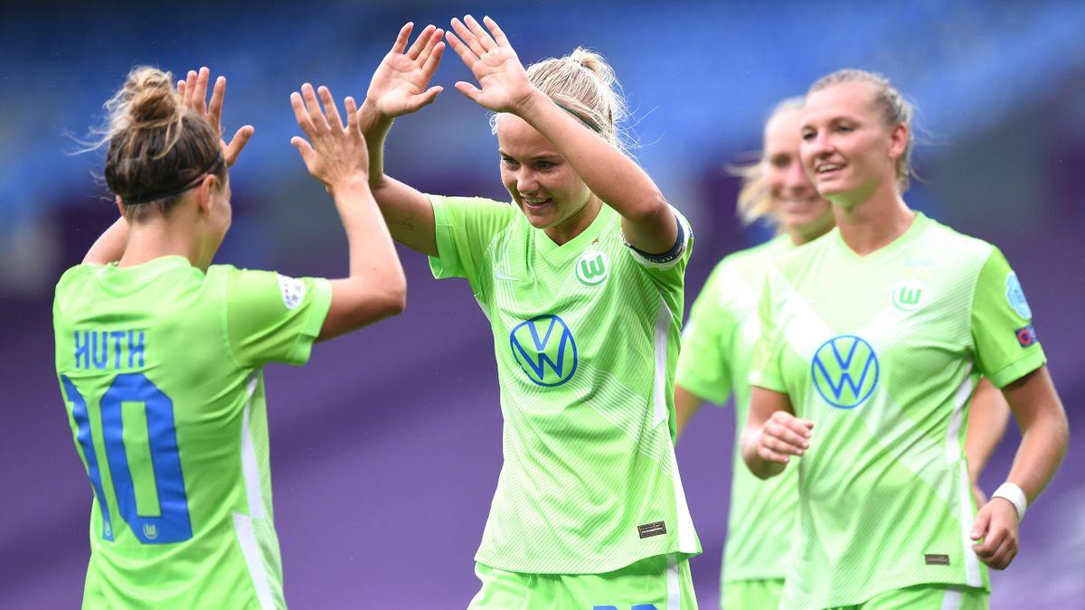 Die Frauen des VfL Wolfsburg nehmen gegen den FC Barcelona das Champions-League-Finale ins Visier