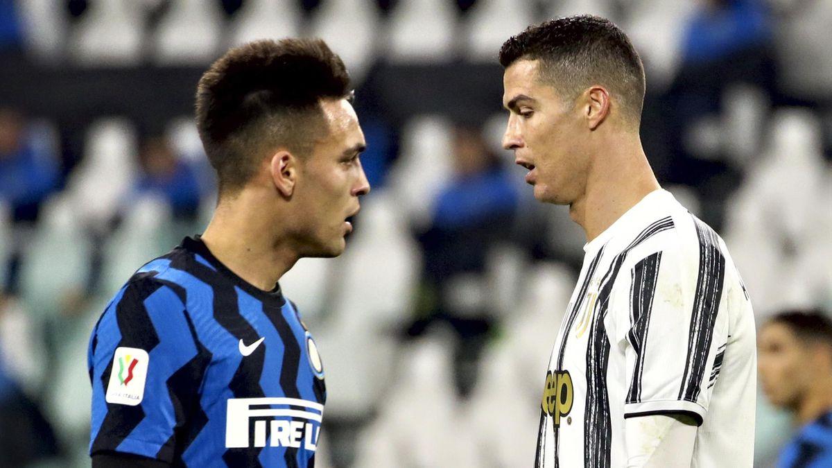 Lautaro Martínez y Cristiano Ronaldo