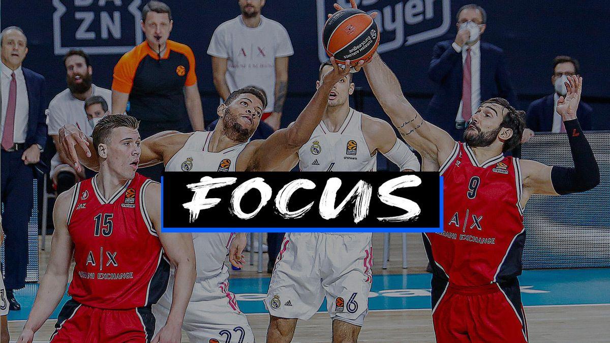 Riccardo Moraschini, Walter Tavares, Real Madrid-AX Armani Exchange Milano, Euroleague 2020-21, focus