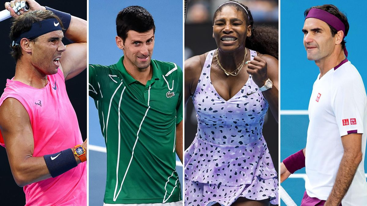 Rafael Nadal, Novak Djokovic, Serena Williams and Roger Federer