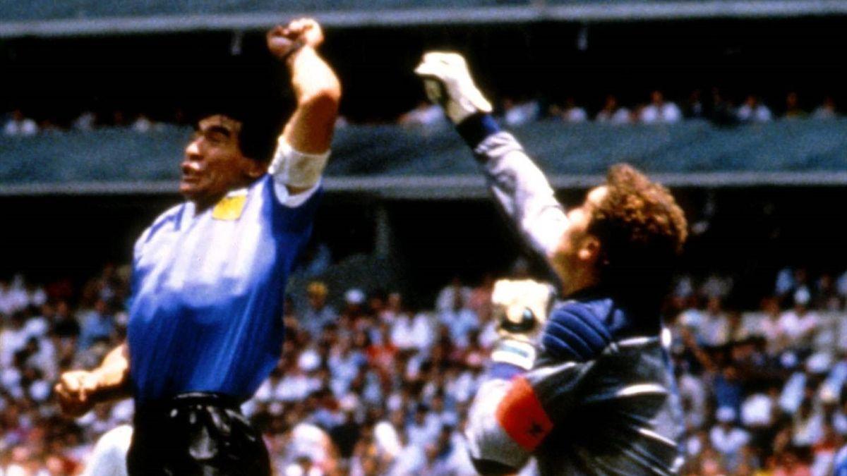 "Diego Maradona: ""Hand of God"" - Argentina v England - World Cup 1986"