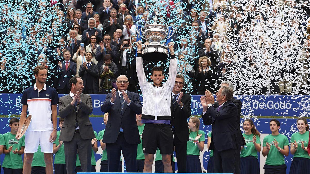 Dominic Thiem célèbre sa victoire lors de l'ATP 500 de Barcelone