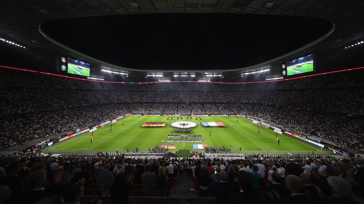 Eine ausverkaufte Allianz Arena bei einem Länderspiel: Laut den UEFA-Regularien wäre das ab sofort wieder erlaubt