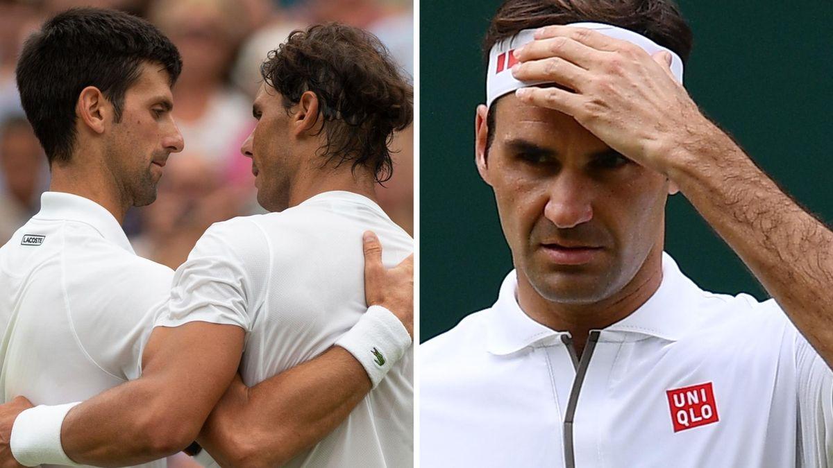 Federer Nadal Djokovic Win Wimbledon Win The Men S All Time Grand Slam Title Race Eurosport
