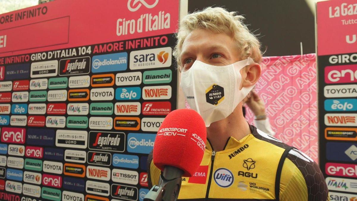 """Giro d'Italia   """"Ik verwacht dat er nog wel strijd tussen de klassementsmannen komt"""" Koen Bouwman"""