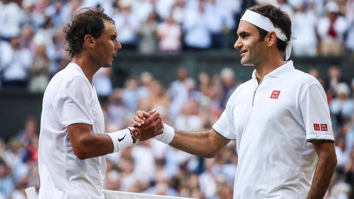 Roger Federer und Rafael Nadal in Wimbledon
