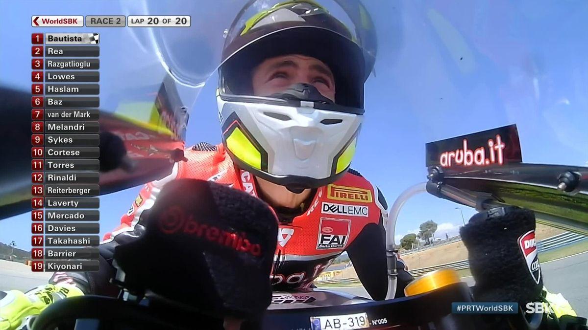 Superbike WCH Portugal - Race 2 last Lap - winner Bautista