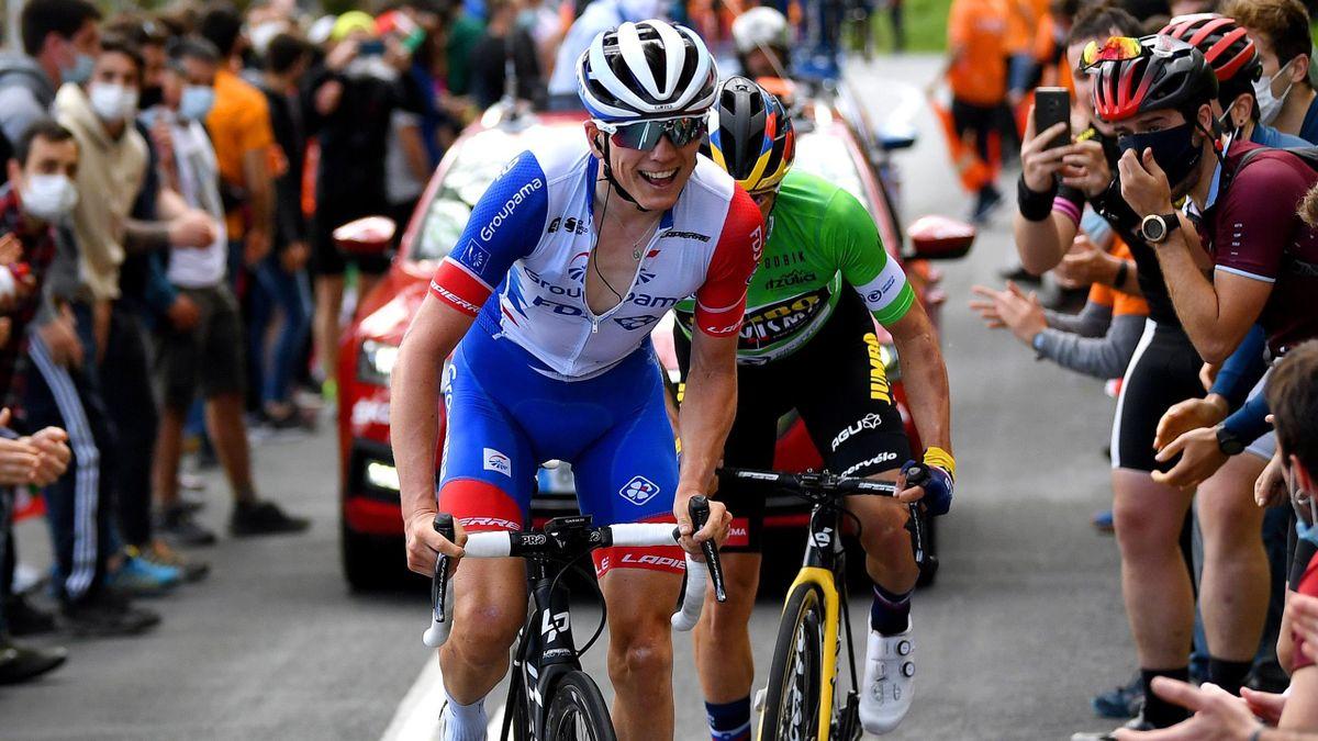 David Gaudu et Primoz Roglic sur le Tour du Pays basque.