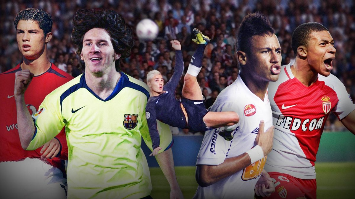 Cristiano Ronaldo, Lionel Messi, Antoine Griezmann, Neymar and Kylian Mbappe