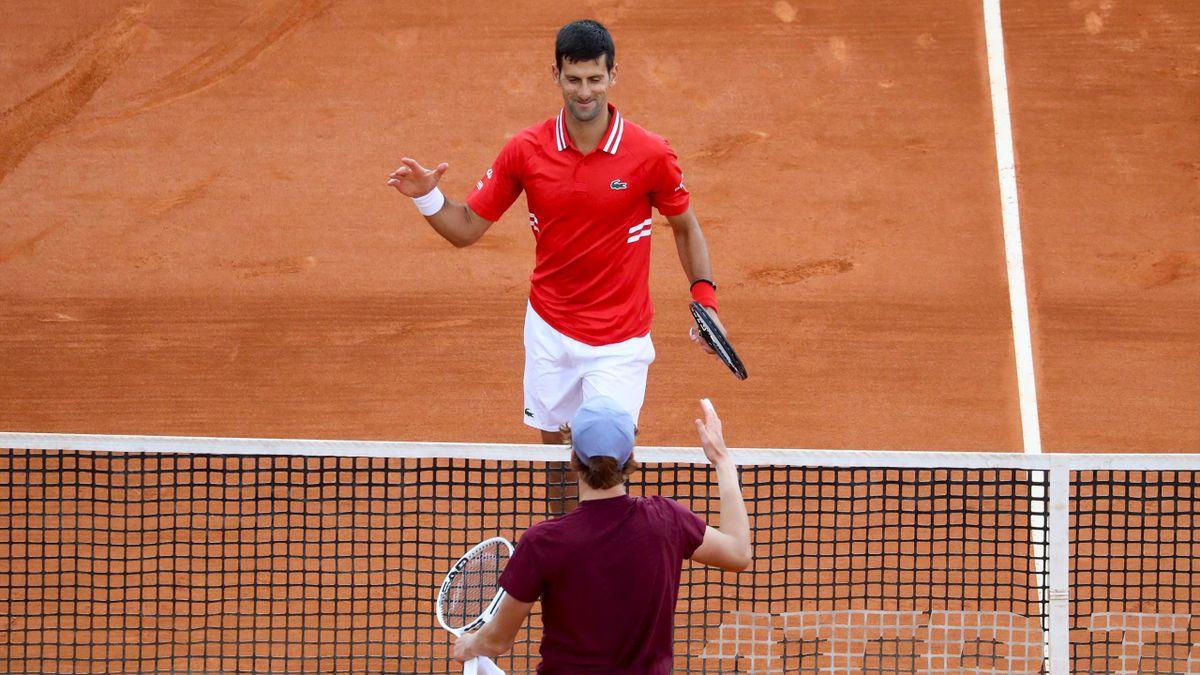Novak Djokovic e Jannik Sinner