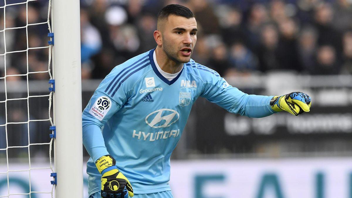 Anthony Lopes, le gardien de l'Olympique Lyonnais, face à Bordeaux, le 28 janvier dernier
