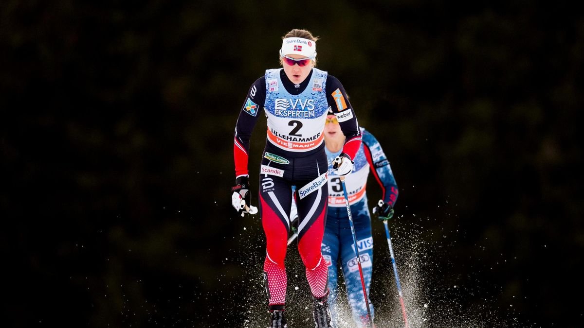 Ingvild Flugstad Oestberg of Norway competes in the women's 10km Cross Country pursuit event at the FIS Cross Country World Cup in Lillehammer, Norway,
