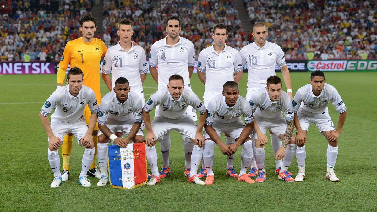 L'équipe de France lors de l'Euro 2012.