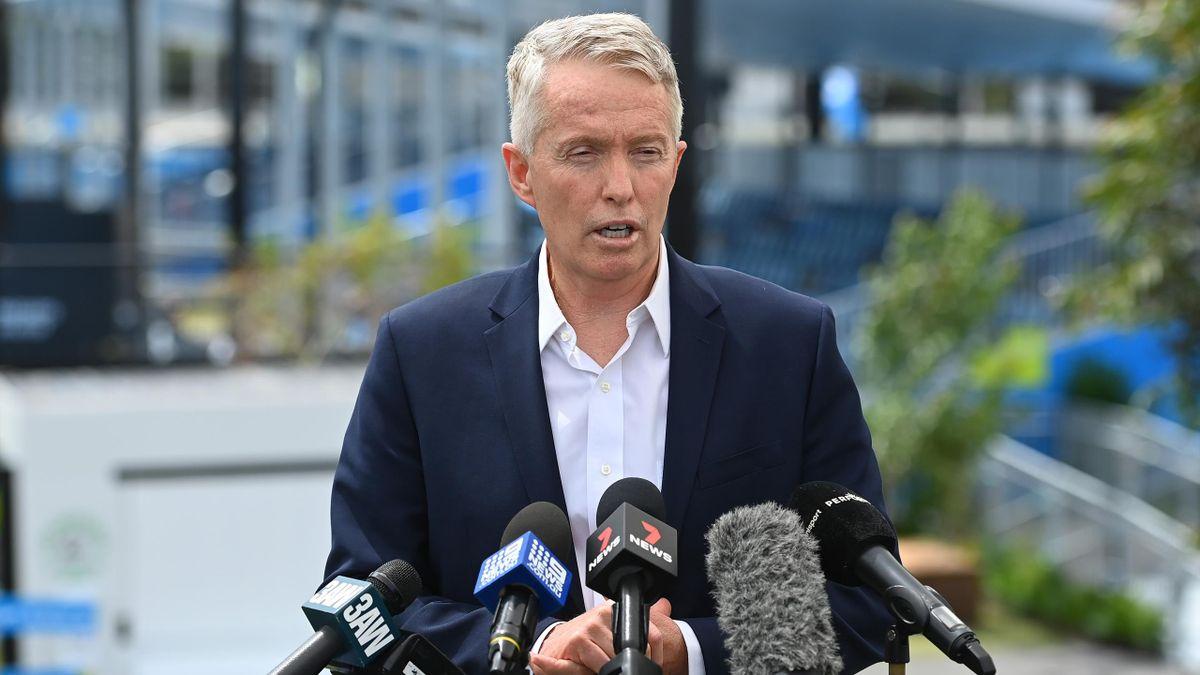 Craig Tiley, directeur de l'Open d'Australie, à Melbourne en 2021