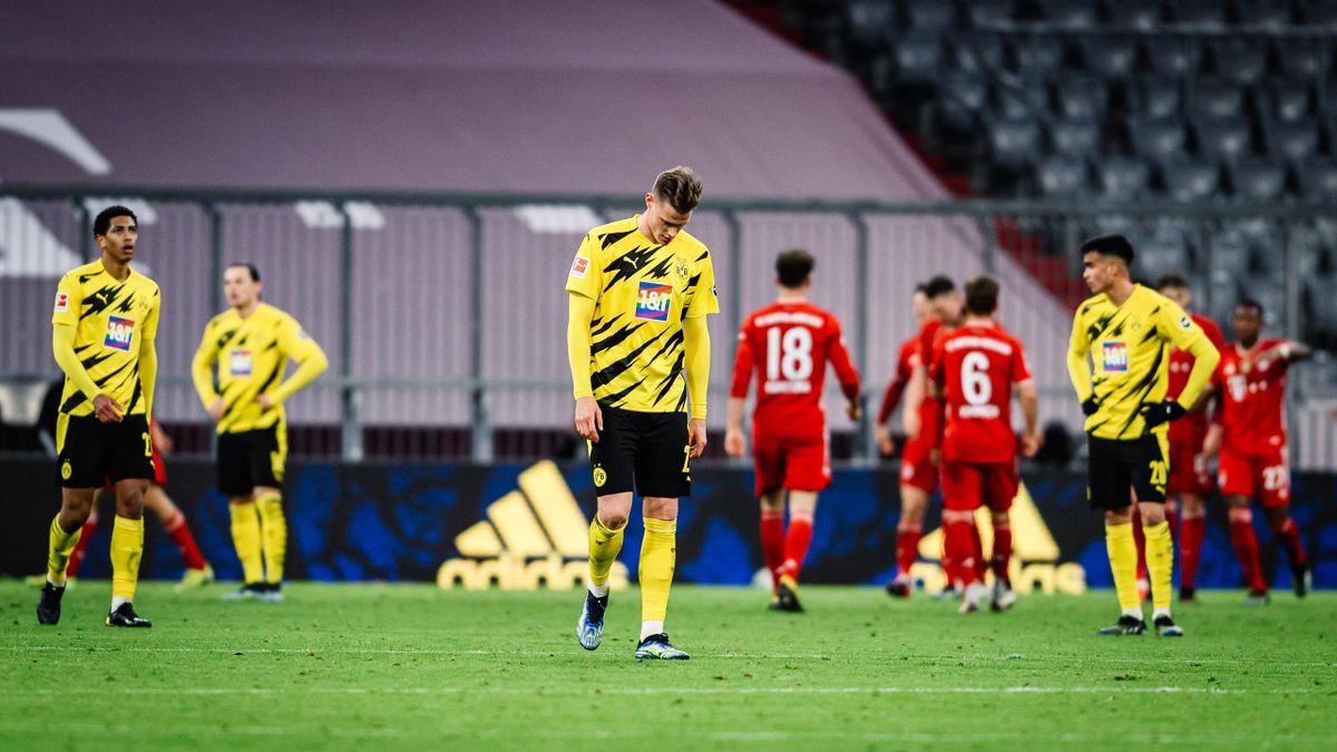Die Profis von Borussia Dortmund nach der Niederlage im Topspiel gegen den FC Bayern