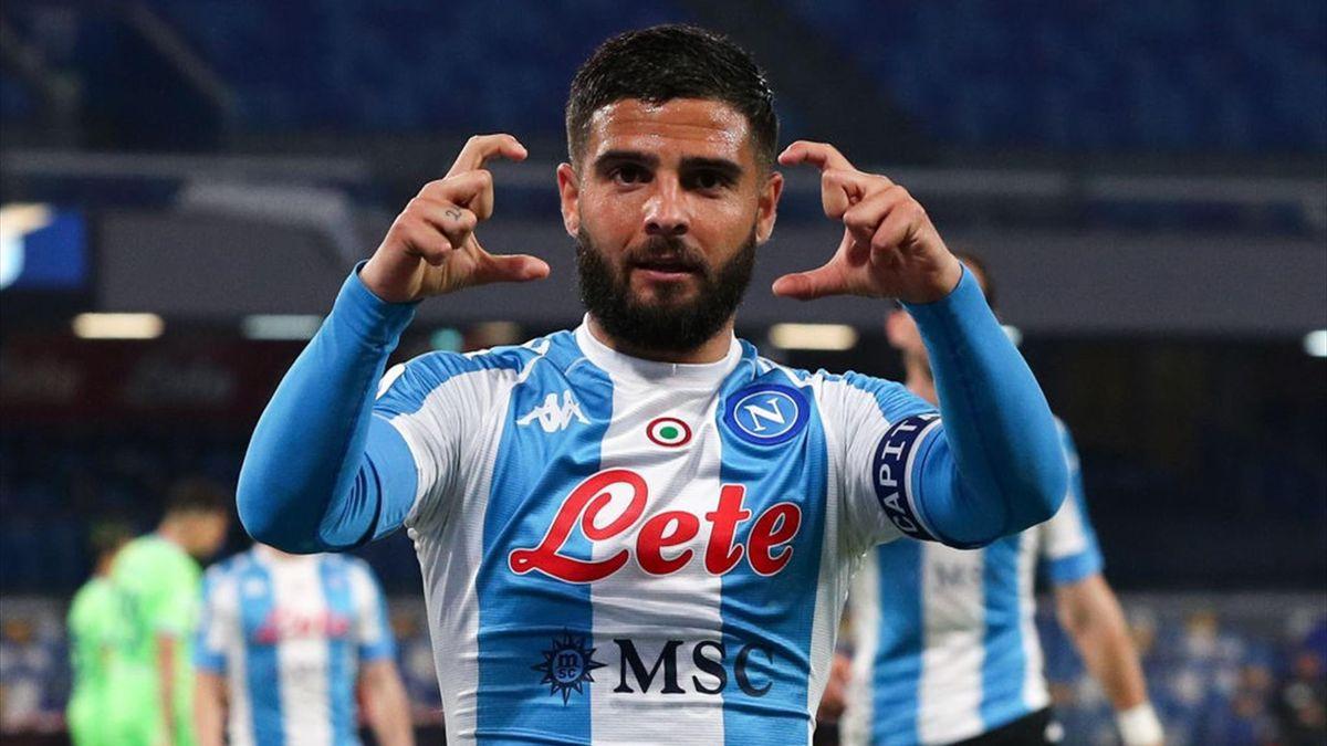 Lorenzo Insigne esulta - Napoli-Lazio Serie A 2020-21