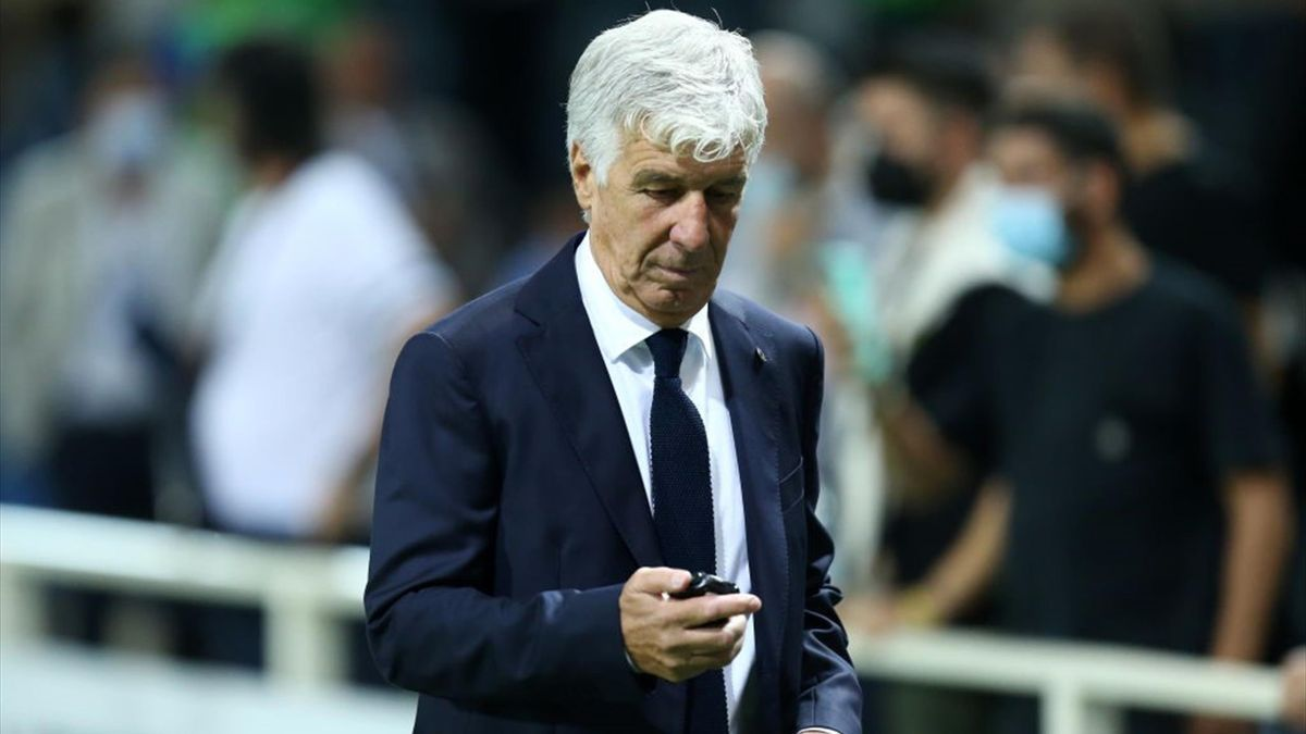Gasperini durante Atalanta-Fiorentina - Serie A 2021/2022